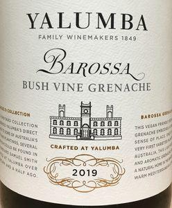 Yalumba Bush Vine Grenache 2019
