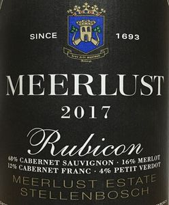 Meerlust Rubicon 2017